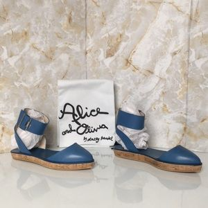 Alice Olivia Blue Leather Women's Sandals